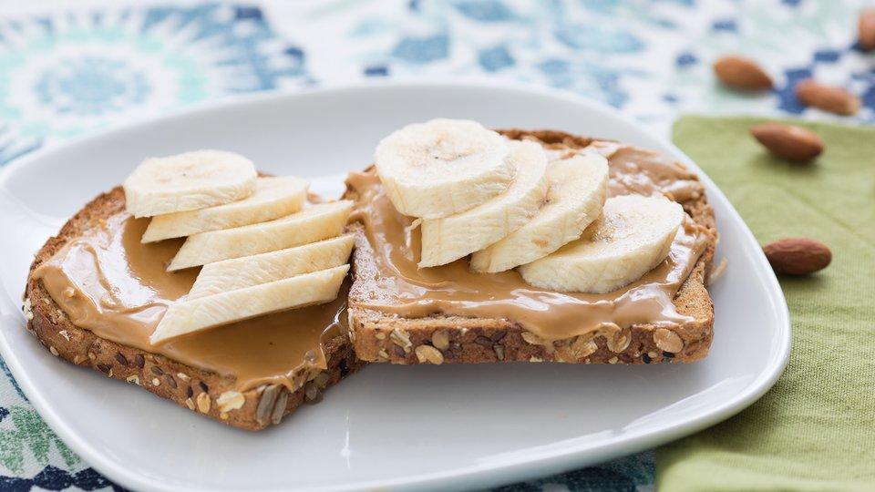 Almond Banana Toast