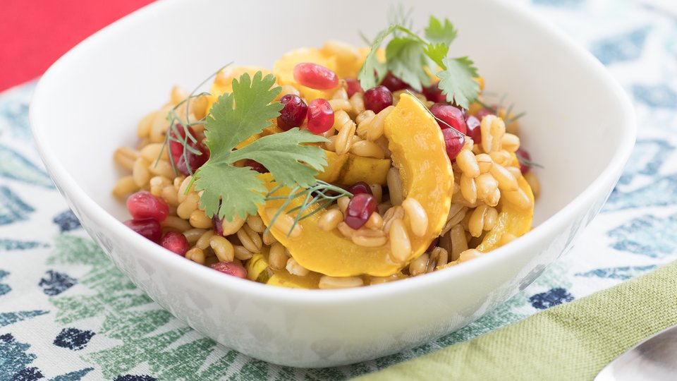 Curried Squash and Kamut Salad