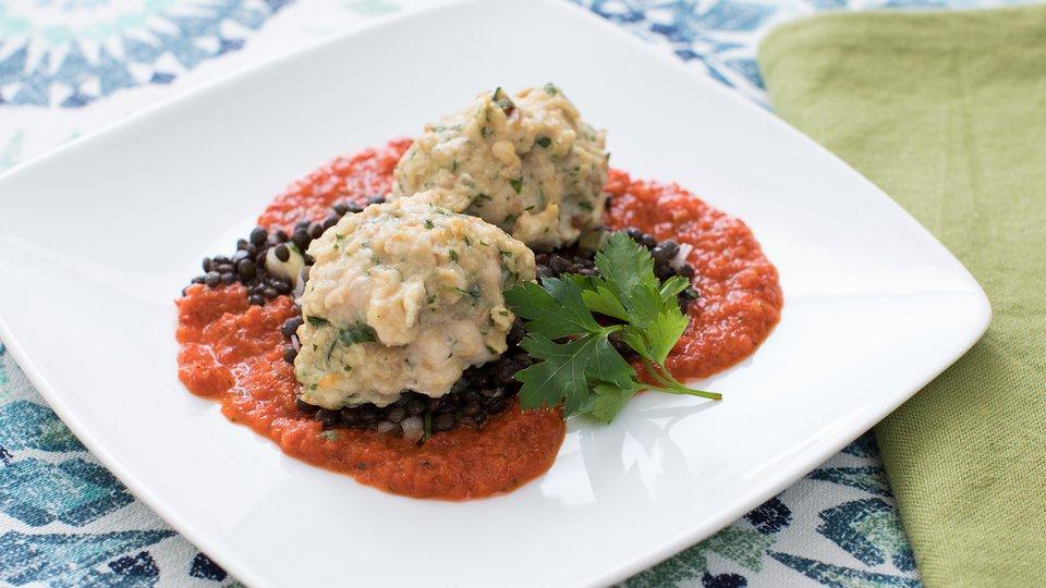Turkey Meatballs Over Lentils