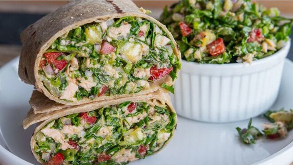 Latin Salmon Pineapple Wrap