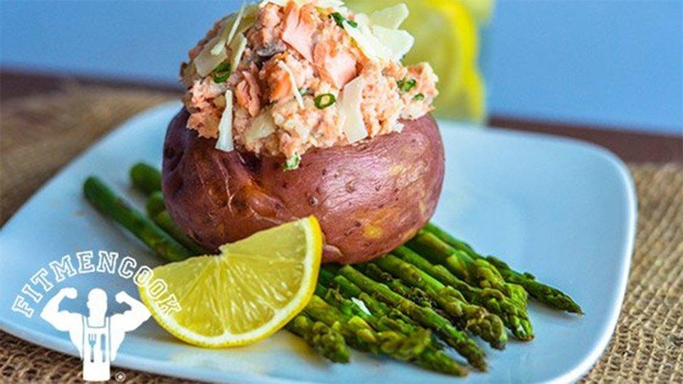 Salmon-Stuffed Red Potato