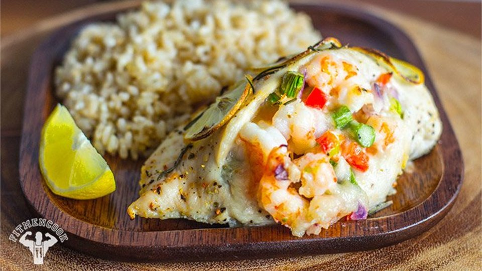 Shrimp-And-Veggie Stuffed Chicken Breast