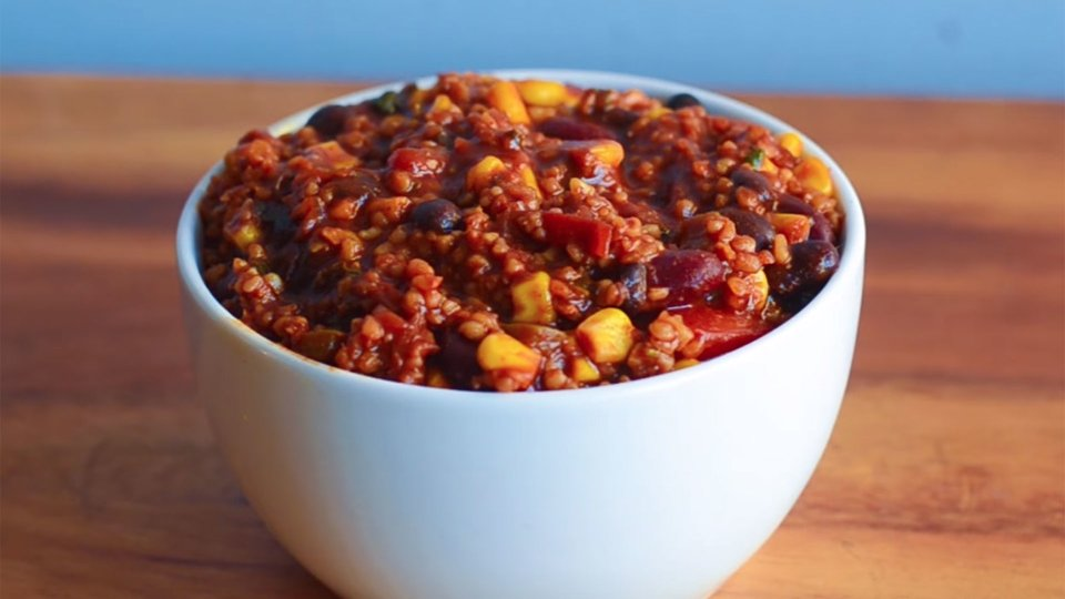 Spicy Vegan Freekeh Chili