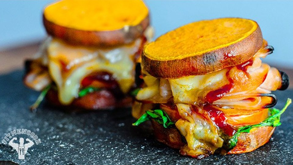 Superman Hero Sweet Potato Slider Melts