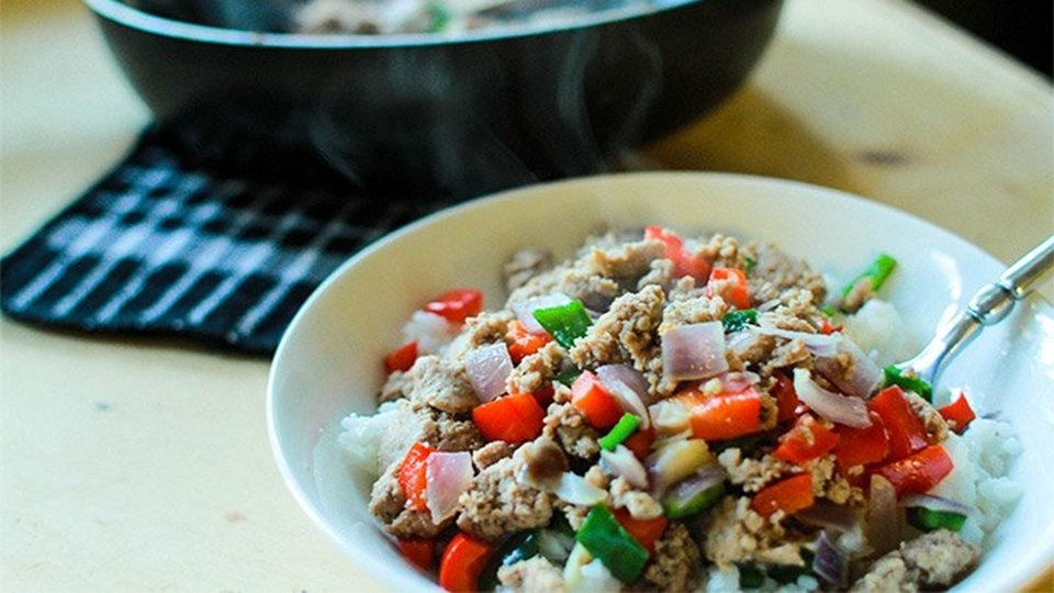 The Go-To Ground Turkey Skillet