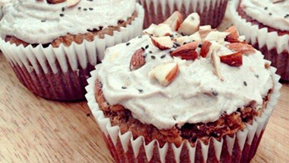 Apple Pie Protein Cupcakes