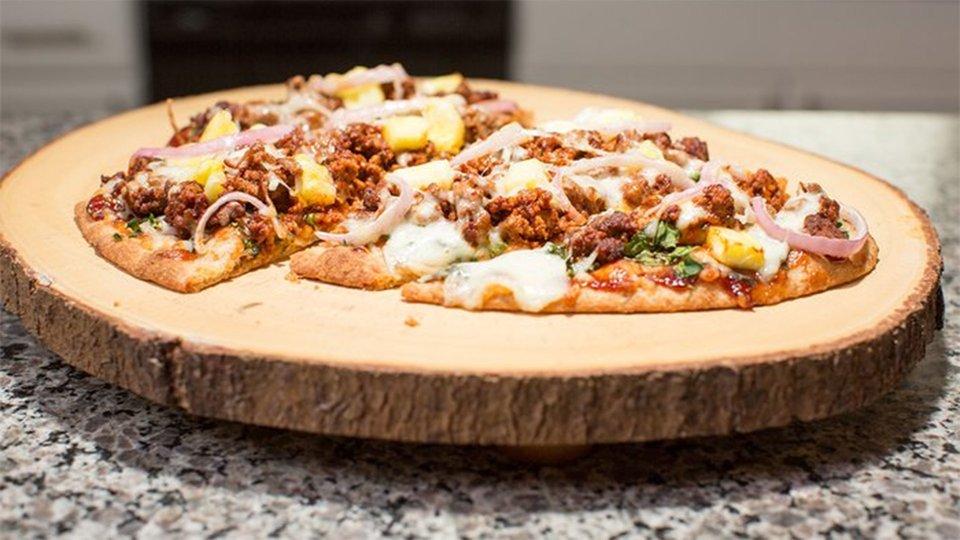 BBQ Bison Pineapple Pizza