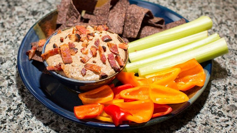 Black Bean Bacon Dip