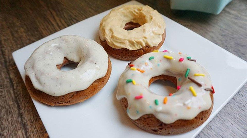 Decadent Chocolate Protein Doughnuts