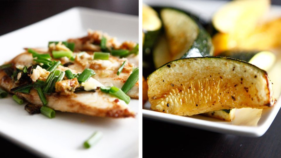 Ginger Garlic Tilapia with Summer Squash Wedges