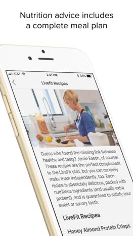 Live Fit mobile app