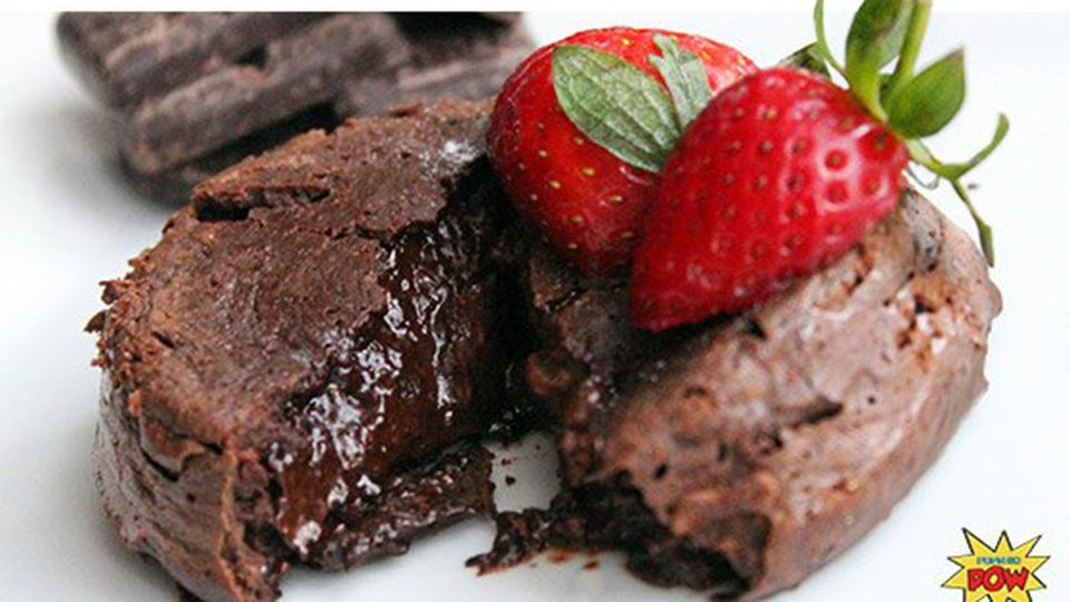 Protein Chocolate Lava Cakes