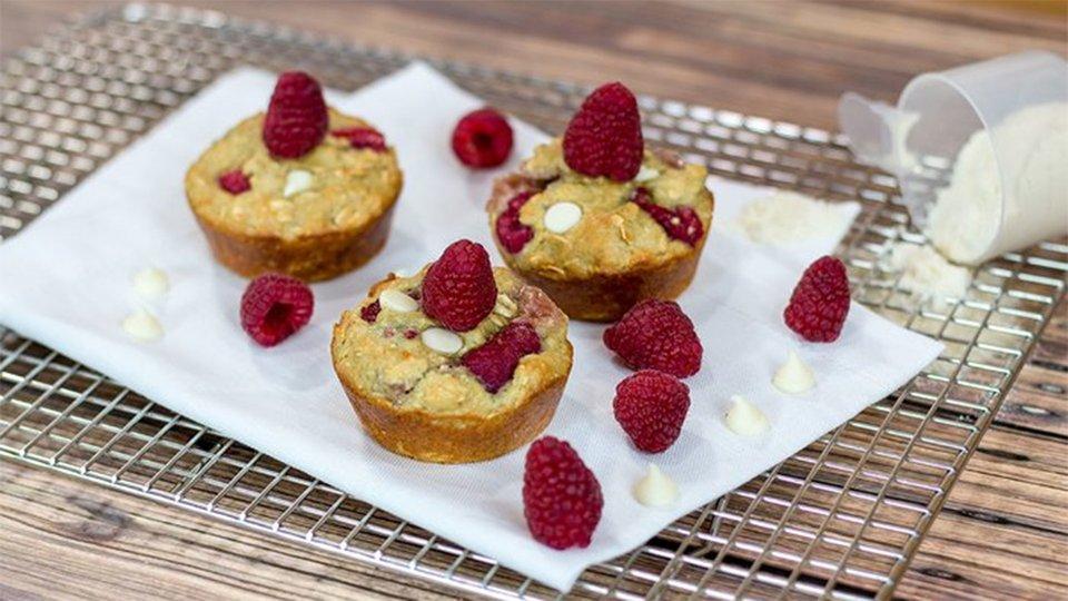 Raspberry Oatmeal Protein Bites