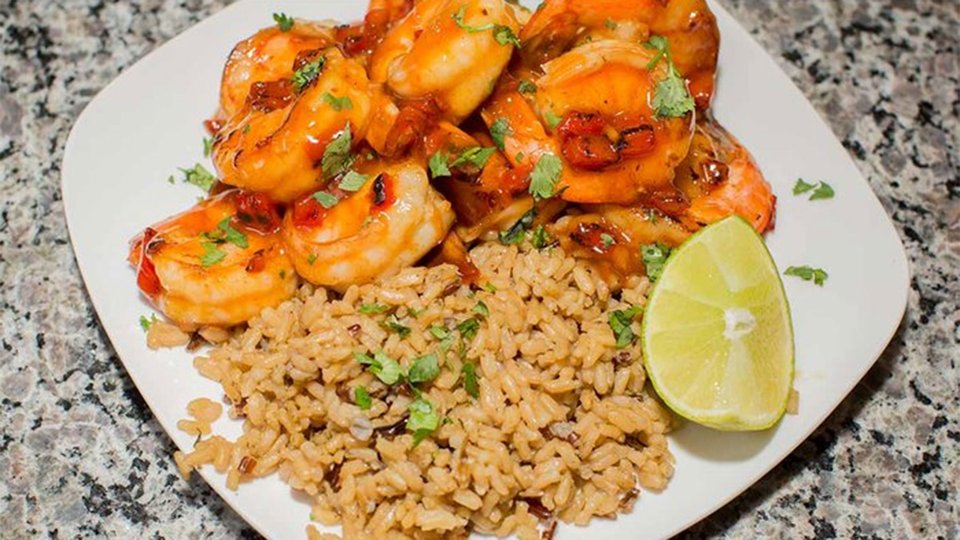 Sweet Lime Sesame Shrimp