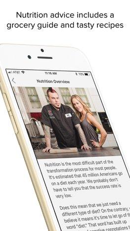 Transformed mobile app
