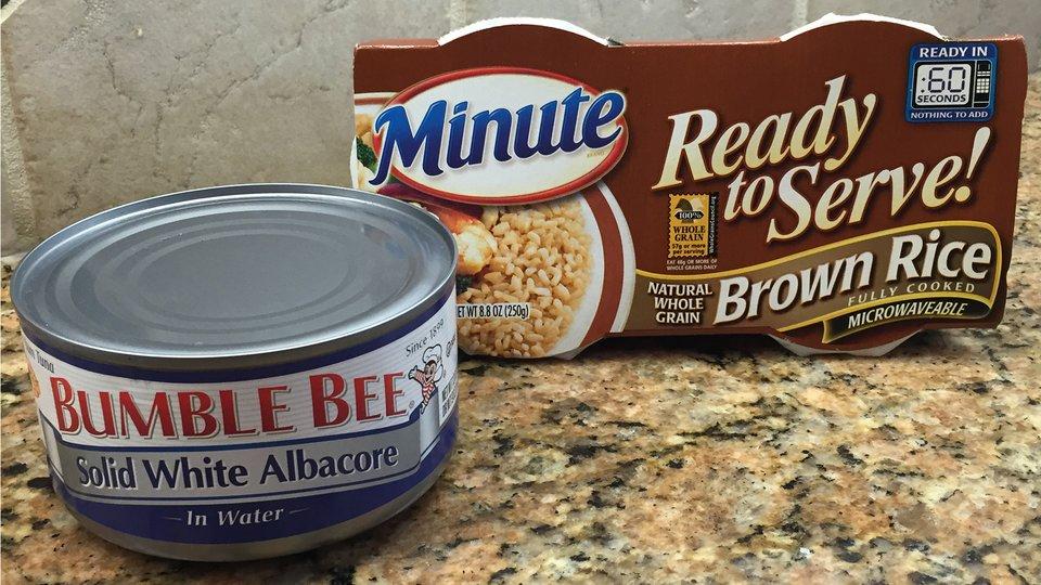 Tuna and Microwavable Brown Rice