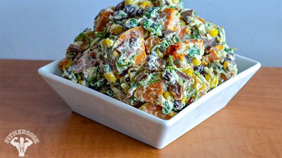 Fully Loaded Sweet Potato Salad