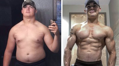 Former D1 Football Player Drops 55 Pounds to Tackle New Bodybuilding Goals