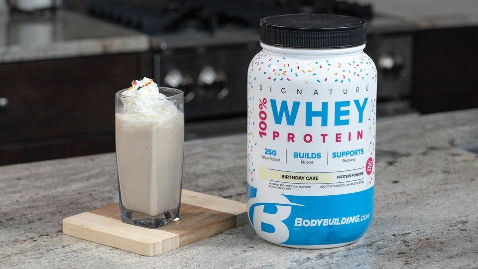 Awesome Signature Birthday Cake Protein Shake Bodybuilding Com Funny Birthday Cards Online Inifofree Goldxyz