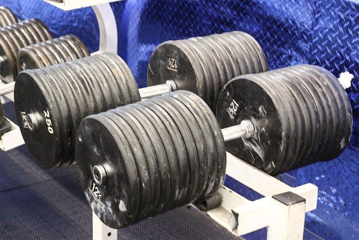250-Pound Dumbbells