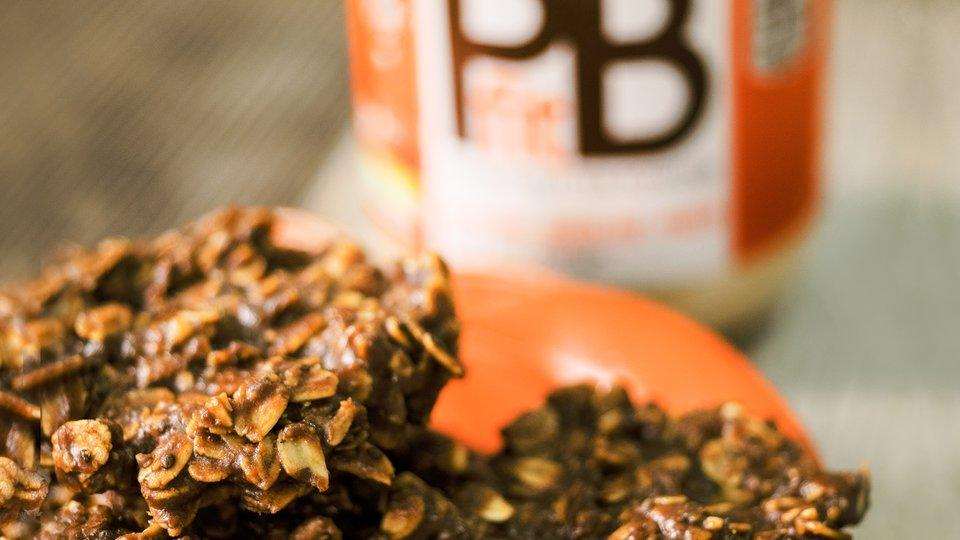 Chocolate PBfit No-Bake Cookies