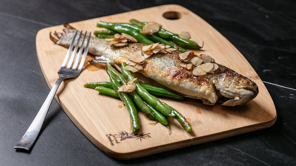 MetaBurn90: Trout with Green Beans and Almonds
