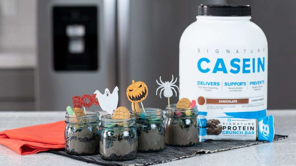 Spooky Protein Pudding Dirt Cup