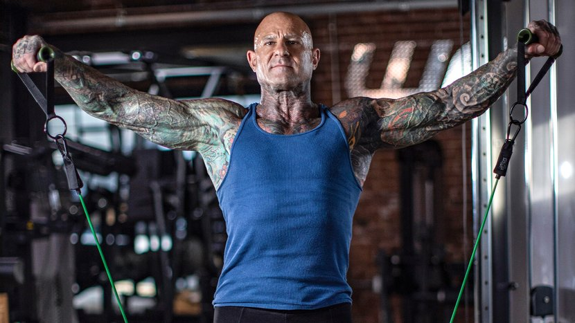 Jim Stoppani Working Out Shoulders