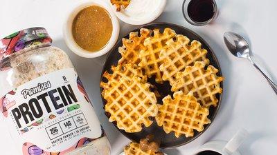 Crispy Fruity Cereal Waffles