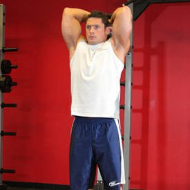 Standing Dumbbell Triceps Extension thumbnail image