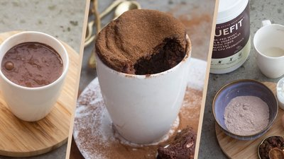 One-Minute Chocolate Protein Mug Cake
