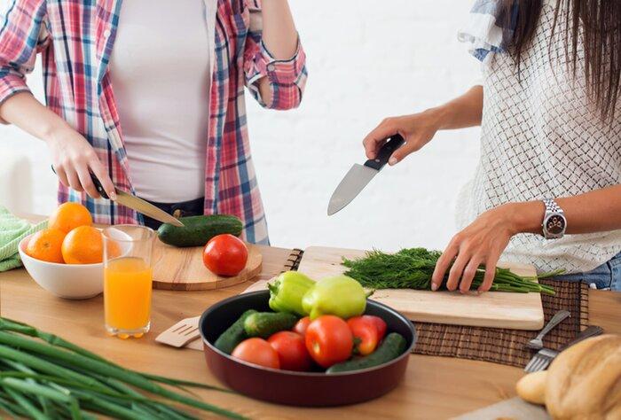 Preparing fresh vegetables