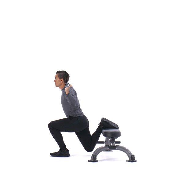 Barbell Bulgarian split squat thumbnail image