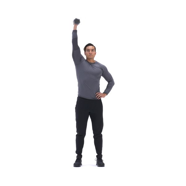 Single-arm palm-in dumbbell shoulder press thumbnail image