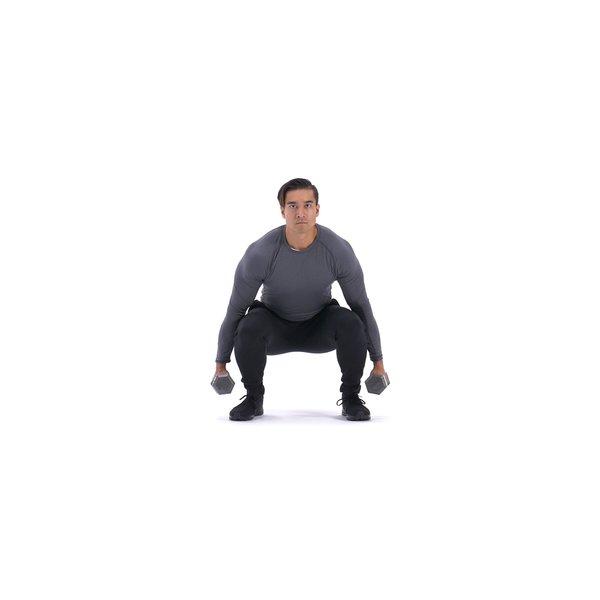 Dumbbell squat thumbnail image