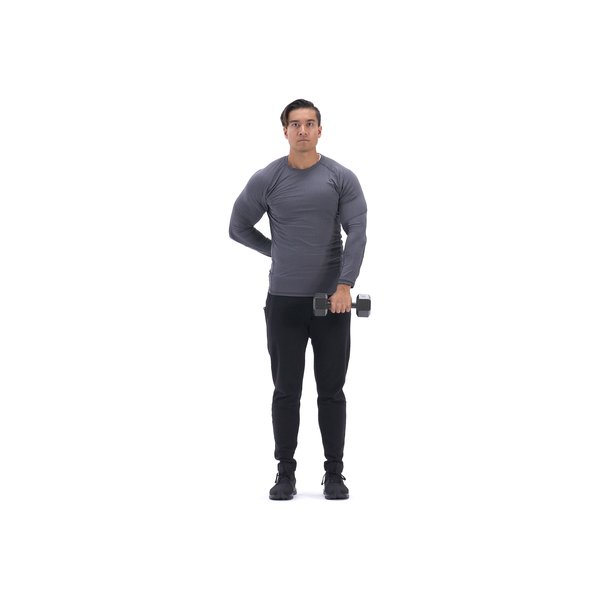 Single-arm dumbbell upright row thumbnail image
