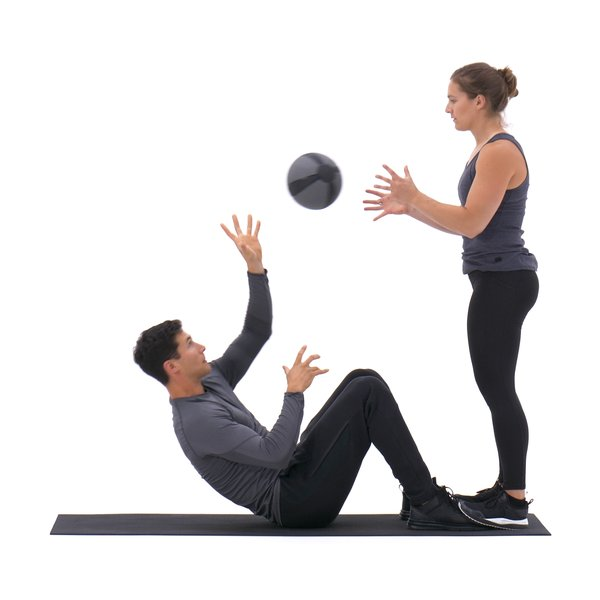 Sit-up with single-arm overhand throw thumbnail image