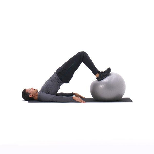 Exercise ball leg curl thumbnail image