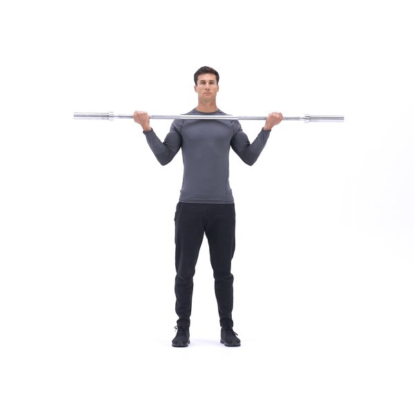 Wide-grip barbell curl thumbnail image