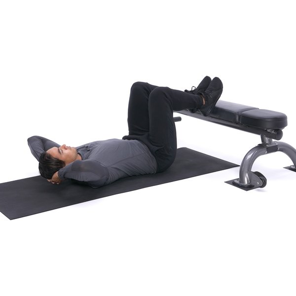 Feet-elevated oblique crunch thumbnail image