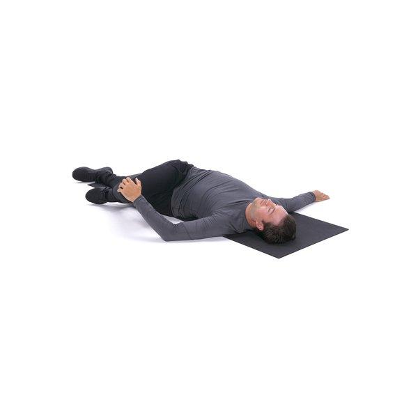 Single-leg lying cross-over stretch thumbnail image