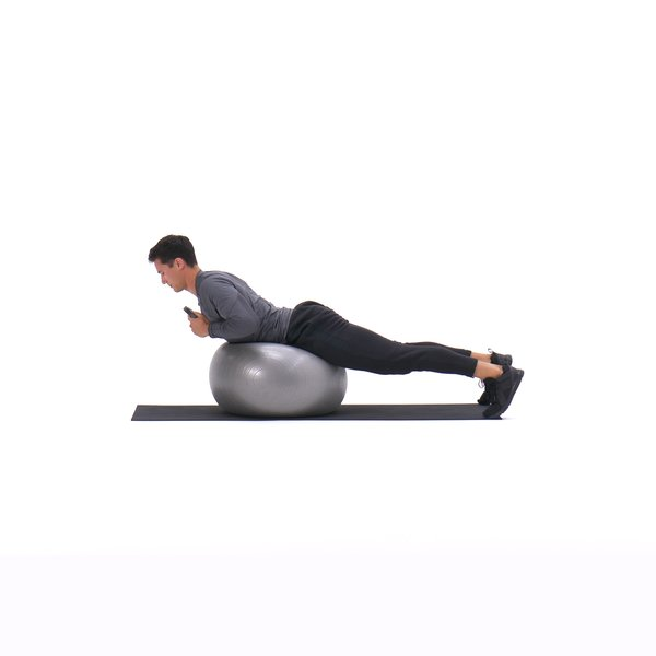 Exercise ball weighted hyperextension thumbnail image