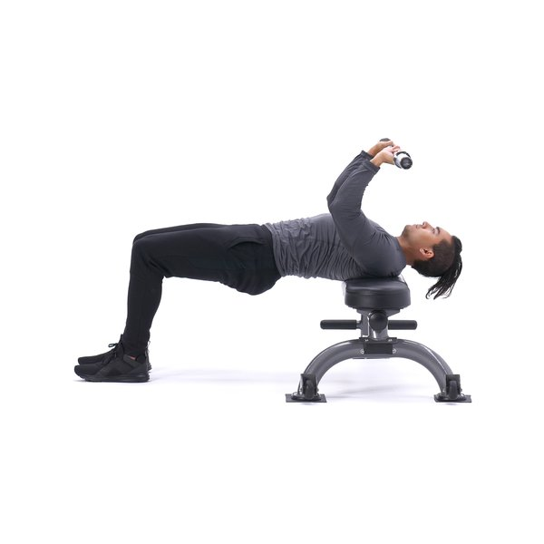 Bent-arm barbell pull-over thumbnail image