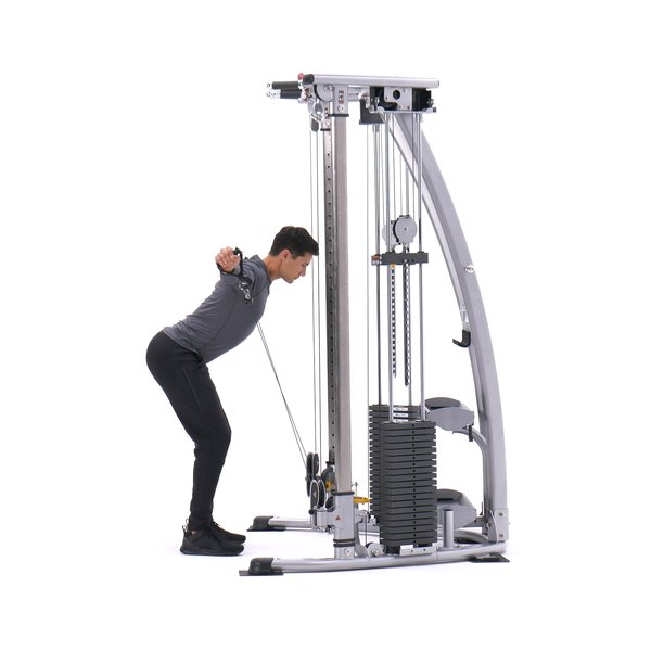 Standing crossed-cable rear delt fly thumbnail image