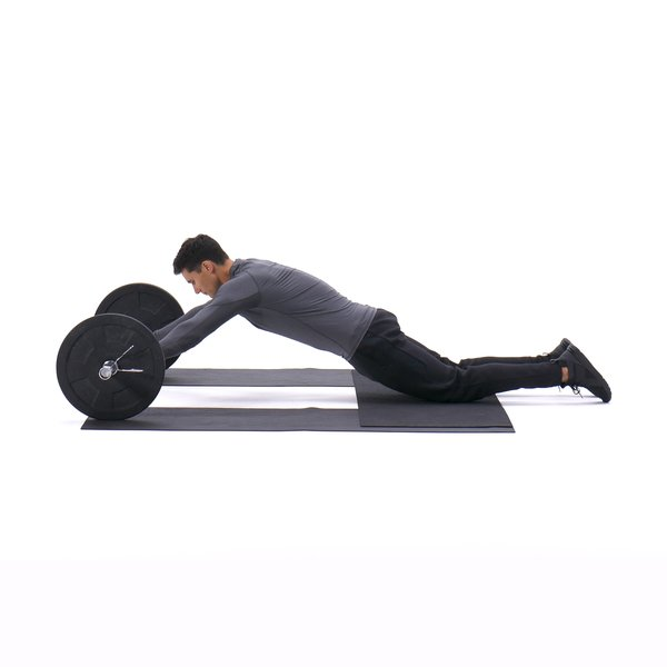 Barbell Ab Rollout - On Knees thumbnail image