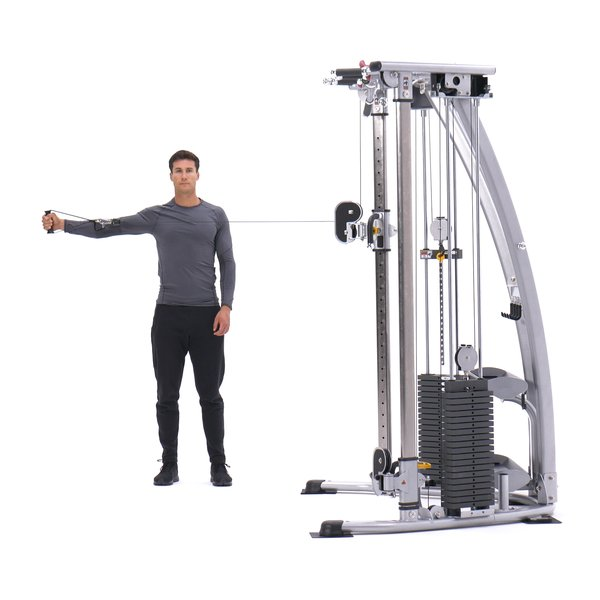 Single-arm bent-over cable rear delt fly thumbnail image