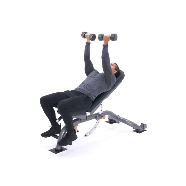 Reverse-grip incline dumbbell bench press thumbnail image