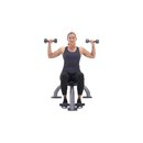 xdb 50e seated dumbbell shoulder press f1 square 130x130 3 Upper Body Workouts for Women