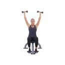 xdb 50e seated dumbbell shoulder press f2 square 130x130 3 Upper Body Workouts for Women