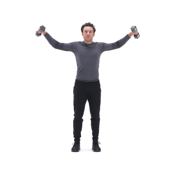 Dumbbell front raise to lateral raise thumbnail image